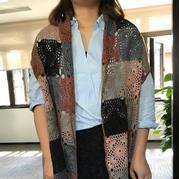 即好钩又可以有多种穿法的气质型密斯钩织联合羊绒披肩开衫
