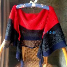 雨季不再来 秘鲁幼驼绒零线编织女士棒针披肩