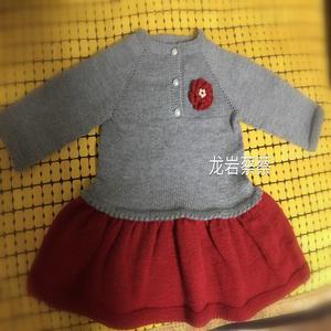 一段话的教程就可以完成的棒针超简单宝宝裙