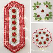 3款各有千秋的钩针彩色蕾丝 钩起来放家里摆着挂着都漂亮