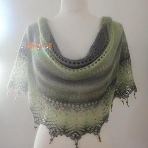 橄榄园 段染蕾丝编织女士棒针披肩