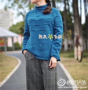 简单好织女士棒针从领口往下织云朗圆肩衣