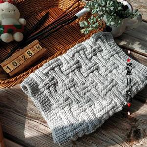 给爱的人织一条围巾 男士棒针条纹格温暖围巾