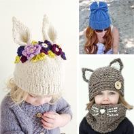 如此组合没办法不爱 最重要的是简单(有趣简单创意手工编织毛线帽)