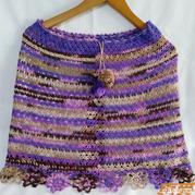 紫气东来 可以做披肩的女士钩针半身裙
