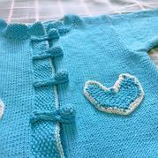 葡京娱乐棒针中式开衫外套毛衣(含换线后的计算过程)