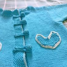 儿童棒针中式开衫外套毛衣(含换线后的计算过程)