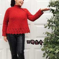 秋韵 秋冬也适合的中式风格女士斜开襟套头毛衣