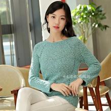 诗瑶 非常显瘦的女士棒针镂空线条休闲套头毛衣