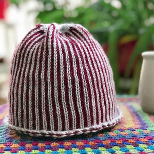 欧美风时尚简约大气百搭款棒针毛线帽