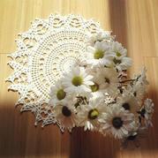 冬日暖阳指间缠绕编织着小心情 2款唯美钩针蕾丝小花样
