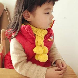 小魔球 简单又好看一天即可完成的儿童棒针围巾