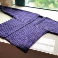 紫色段染 歐洲編織款女士棒針開衫