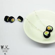 可以做首饰的迷你钩针寿司卷图文教程与图解