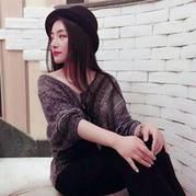 仿毛线球1女士棒针深V领泡泡袖套头毛衣