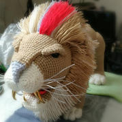 毛线编织钩针威武雄狮编织图解