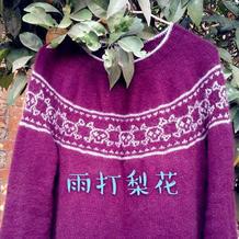 骷髅会羊绒衫 从上往下织万圣节主题毛衣