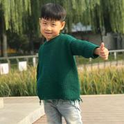 经典时尚宽松版男孩棒针流苏毛衣