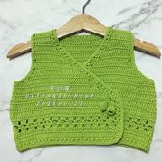 HOPE 超适合新手的云棉0-1岁钩针婴幼儿和尚服背心