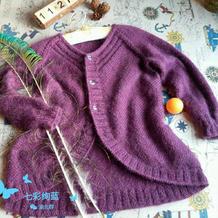 背后更精彩 花朵儿儿童棒针圆摆开衫编织教程