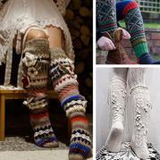 50余款创意手工毛线编织长筒袜 款款令人着迷