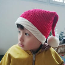 儿子钩针圣诞帽和圣诞老人书签