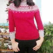让人泪目、温暖有爱的毛衣 送母亲的手工编织提花羊毛衫