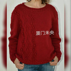 幽径 女士棒针长袖套头毛衣详细过程和图解