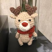 圣诞麋鹿 迷你钩针小鹿编织图解