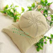花非花 从中心开始编织的棒针圆形抱枕套