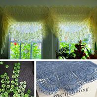 勤劳双手打造美丽家园 钩编房屋饰品之桌布窗帘与墙饰