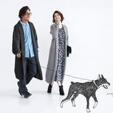 超拉风的情侣款棒针翻领大衣,织法却十分简朴