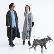 超拉风的情侣款棒针翻领大衣,织法却非常简单