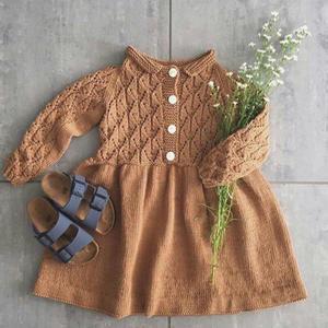甜美可爱仿淘宝款女童棒针裙式毛衣