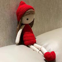 新的一年祝全家红红火火 萌可爱毛线编织钩针小红帽图解