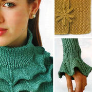 手工編織花式領袖與門襟 編織花樣的新用途
