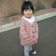 仿淘宝款儿童棒针彩点羊毛休闲毛衣外套