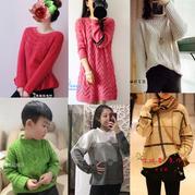 201903期周热门编织作品:女士男士儿童手编毛衣19款