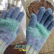 冬日里的温暖编织 棒针粗线五指手套教程