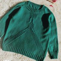 男女宝宝都适合的儿童棒针插肩毛衣
