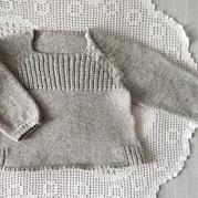 从下往上织萌可爱宝宝棒针插肩毛衣
