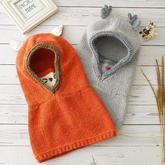 实用有趣棒针儿童围脖帽编织视频教程(2-1)狐狸款