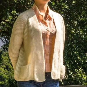 仿外网春秋季女士棒针开衫外套毛衣