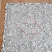 消化屯线的好办法 一线到底编织方块花样宝宝毯