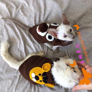 喵喵的千變美衣 鉤機結合編織寵物毛衣
