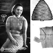 百年前的毛衣今天看依然美  傳統節日回味歷史長河百年編織