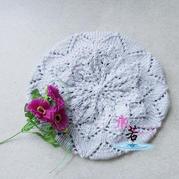 Rosemary Hill迷迭香山 开出花来的棒针蕾丝贝雷帽