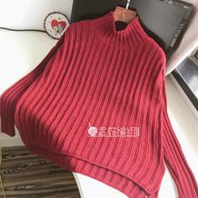 悦红妆 女士棒针高领打底羊绒衫