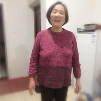 送母亲的新年衣 简舒中老年棒针圆领直袖款线衣
