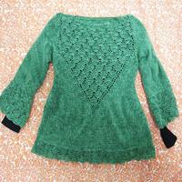 寒冷冬季也不能挡住爱钩的心 好看又实用女士钩针羊毛衫